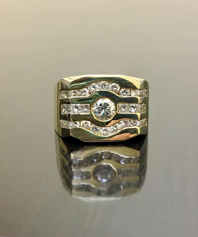 14k gelb gold herren diamant ring 14k gold herren diamant. Black Bedroom Furniture Sets. Home Design Ideas