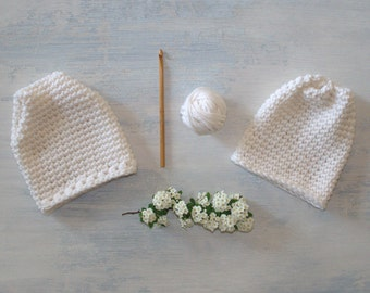Newborn Beanie Pattern Crochet Baby Hat Pattern Easy Baby Hat Pattern DIY Baby Shower Gift Crochet Hat Pattern - Sugar Sprout Baby Hat P162