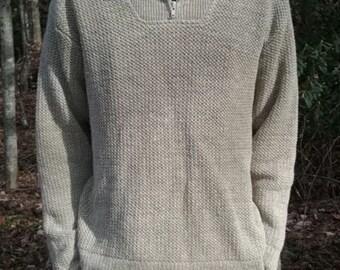 100% Hemp Sweater-Mens w/ Black hemp scarf