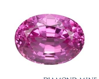 1.37 Carat Pink Sapphire, Oval cut Sapphire, Loose Sapphire Gemstone, Pink Gemstone, Non Heated Real Sapphire
