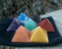 Pyramid Chakra Stone Set