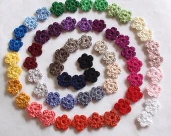 60 mini crochet flowers applique CH-033-06