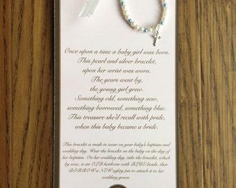 baptism gift-goddaughter gift-baby gift-christening gift-new baby-baby bracelet-baby to bride
