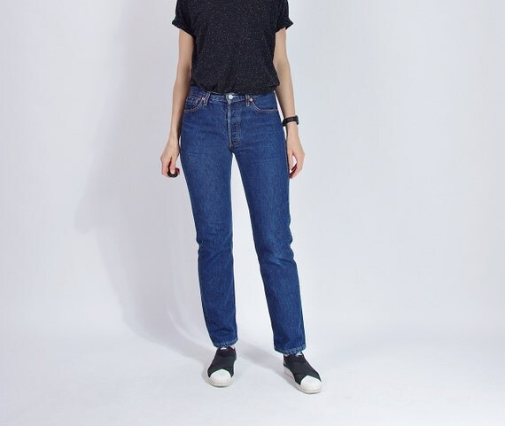 SALE 30% OFF - 90s LEVI'S 501 Blue Denim Street Style Jeans / Size W30 L32