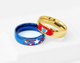 captain america wedding ring etsy your place to buy and sell all things handmade 2441