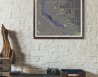 Skyline Edition - Minneapolis Vintage Map print