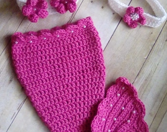 Baby Mermaid Crochet Set