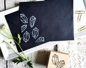 Crystals and Gems Rubber Stamp, crystal, prism, modern, design, stamping, cards, packaging, wrapping paper, pattern