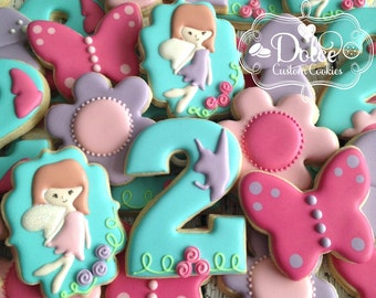 Fairy Pixie Woodland Fairy Birthday Cookies