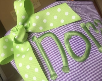 Personalized Easter baskets-chevron pattern super cute pick your color basket, font, and thread color