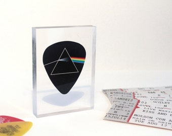 Pink Floyd 'Dark Side of the Moon' Clear Printed Acrylic Token - Gift Ideas // Small Gifts // Unique // Rock // Album