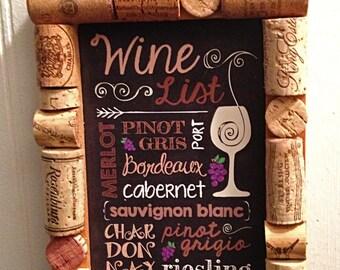 Wine List Cork Frame