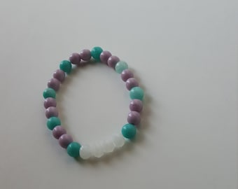Primarily Pastel beaded bracelet