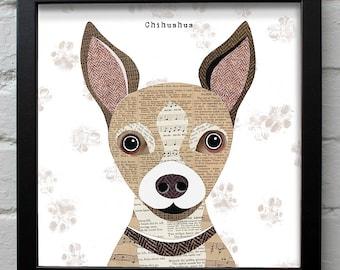 Chihuahua dog print