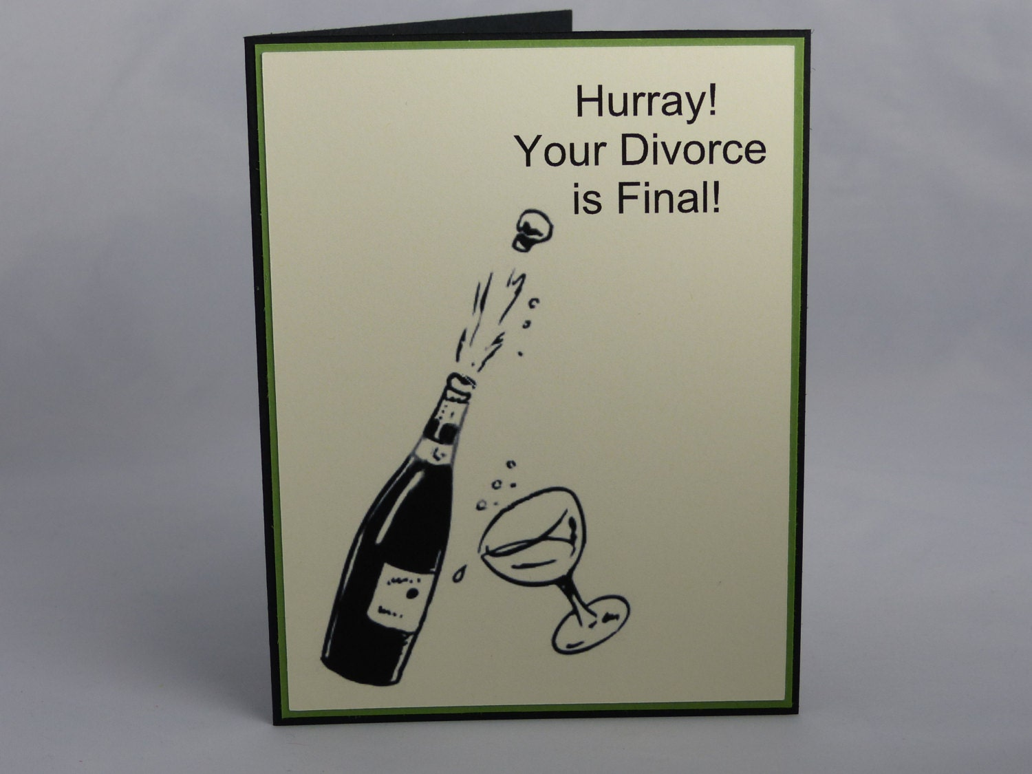 Handmade Greeting Card: Hurray Your Divorce is Final