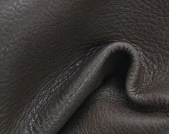 "Chestnut Brown Leather New Zealand Deer Hide 12"" x 12"" Pre-cut 2 1/2-3 ounces TA-38282 (Sec. 6,Shelf 4,B)"