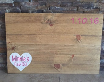 Pallet Birthday Fab 50 Guestbook Birthday Party Guestbook