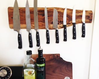 Large Live Edge Knife Rack