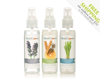 Natural Air Fresheners (Variety Pack) - Room Spray - Linen Spray - Air Freshener - Essential Oils