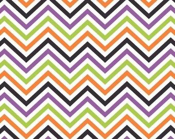 Orange green purple and black chevron craft  vinyl sheet - HTV or Adhesive Vinyl -  Halloween zig zag pattern   HTV6500