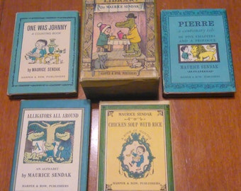 Nutshell Library 1962 by Maurice Sendak / 4 Mini Books