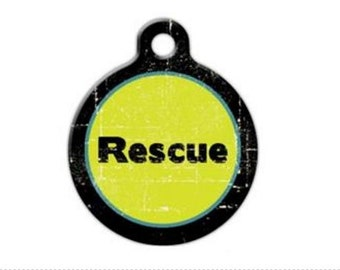 Rescue Adopted Pet Engraved Pet ID Tag
