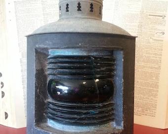 Old nautical corner ship lantern