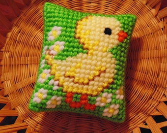 Spring Chick, Easter Gift, Mini Pillow Home Decor, Easter Basket Filler, Easter Basket Chick, Baby Shower Gift, Baby Decor, Spring Decor
