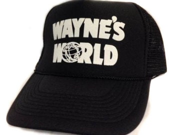 Wayne's World movie hat Trucker Hat Mesh Hat Snap Back Hat black