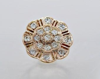 Vintage Fashion Ring 1.00ct. T.W. Diamond & Rose Gold - J35708