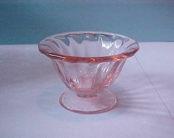 Antique Elegant Glass Pink Nut Cup Perfect Condition
