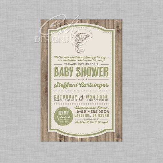 fishing fish theme baby shower invitation by designsbycassiecm
