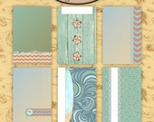 Digital Scrapbook: Pocket Life, By The Sea 4x6 Journaling Cards 1