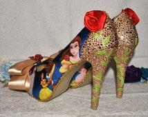 Beauty and the Beast Custom Heels