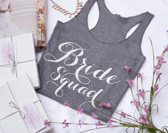 Bride Squad Tank Top - The perfect for your Bachelorette Party and Wedding Day