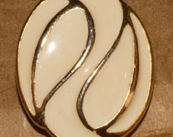 Pair of enamel metal clip on earrings