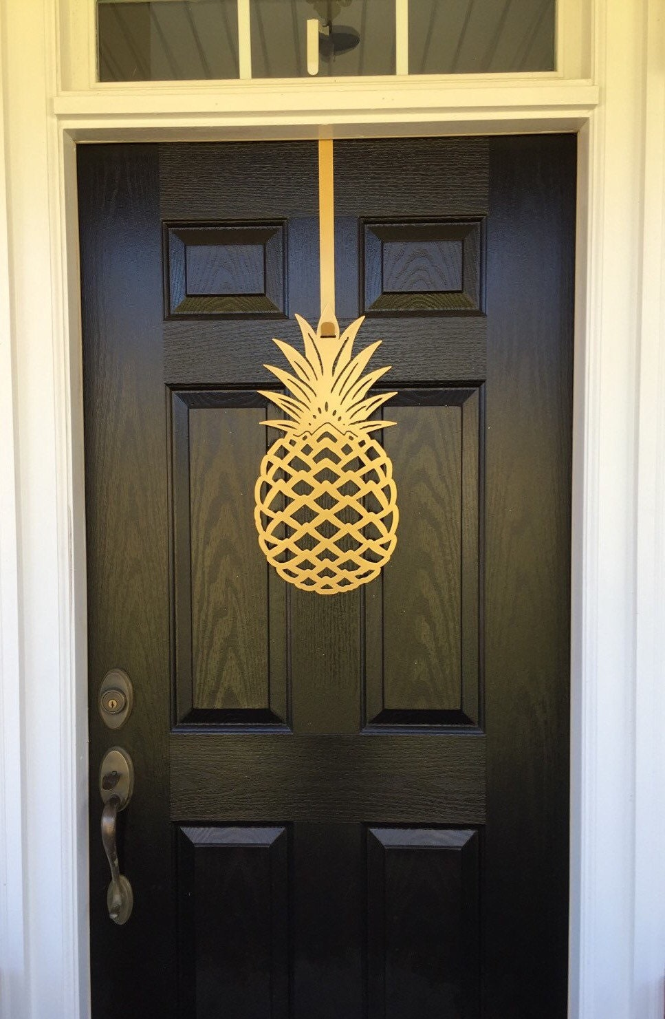 Pineapple front door wreath front door decor pineapple for Front door decor