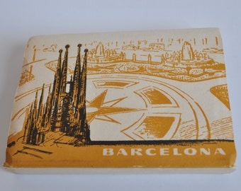 "Block of vintage cards of ""Barcelona""-Spain"