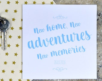 New home card - new adventures