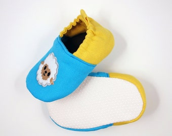 Soft sole lamb embroidery baby shoe - (BBS-C0001A)