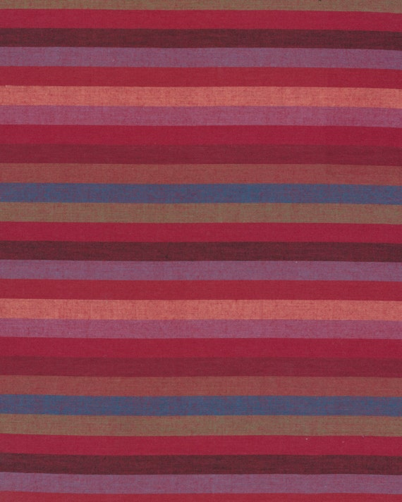 NARROW STRIPE  RED Woven narrow.redxx  by  Kaffe Fassett fabric sold in 1/2 yard increments