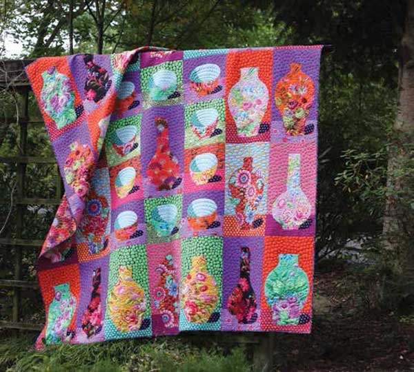 bowls and vases quilt kit sale kaffe fassett by sewcolorfulquilts