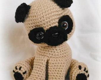 Free Crochet Pug Rug Pattern : Crochet pug Etsy