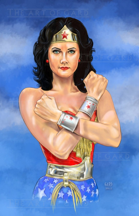 Lynda carter as Wonder Woman 11X17 Artist's Print