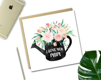 Mother's Day Card {WATERING CAN}
