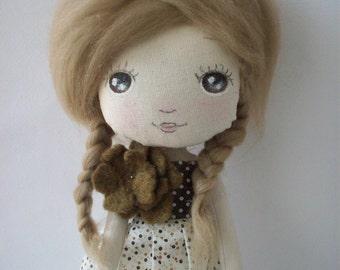 cloth doll, rag doll, ursery decor