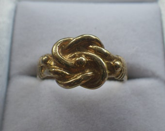 Vintage 9ct Yellow Gold Knot Ring Unusual