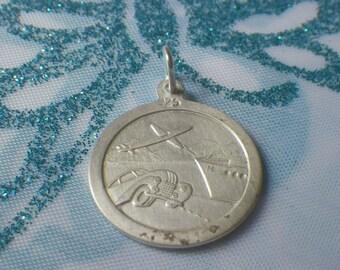 Vintage Sterling Silver St Christopher GJ Style Pendant