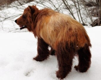 Grizzly Bear Needle Felted Wool  By Carol Rossi Created Just For You!