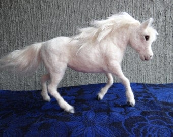 White Horse Needle Felted Wool Animal By Carol Rossi Created Just For You!